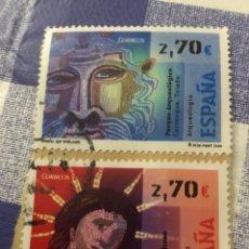 Sellos: SERIE ARQUEOLOGÍA 2009, USADA. 2 VALORES DE 2,70 €. Lote 222280140