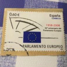 "Sellos: SELLO USADO 2008 ""50 ANIVERSARIO DEL PARLAMENTO EUROPEO"". Lote 222280521"