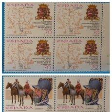 Sellos: ESPAÑA 1998 EDIFIL 3598/3599 BLOQUE DE 4. 400 ANIVERSARIO FUNDACION MEXICO. Lote 222286405