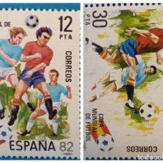 Sellos: ESPAÑA 1981 EDIFIL 2613/2614 MUNDIAL ESPAÑA 82. Lote 222290821