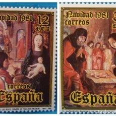 Sellos: ESPAÑA 1981. EDIFIL 2633/34. MNH. NAVIDAD. Lote 222298438
