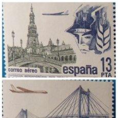 Sellos: ESPAÑA 1981. CORREO AEREO - EDIFIL 2635/2636 - MNH. Lote 222298927