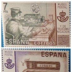 Sellos: ESPAÑA 1981. EDIFIL 2637/2638. MNH. MUSEO POSTAL. Lote 222299428