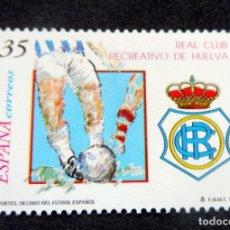 Selos: ESPAÑA - 1999 - EDIFIL 3644 /**/ DEPORTES REAL CLUB RECREATIVO DE HUELVA - LUJO MNH. Lote 222331405