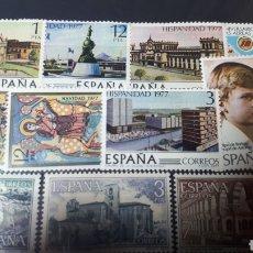 Sellos: SELLOS DE ESPAÑA NUEVOS AÑO 1977 EDIFIL 2439/2450 E 202. Lote 222501973