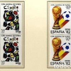 Francobolli: ESPAÑA 1982 - COPA MUNDIAL DE FUTBOL ESPAÑA '82 - EDIFIL Nº 2644/2645 EN BLOQUE DE 4. Lote 222592796