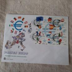 Sellos: PAÍSES DEL EURO 1999 EDIFIL 3632/43 SERIE COMPLETA USADA SOBRE MATASELLO PRIMER DÍA CIRCULACIÓN. Lote 222670623