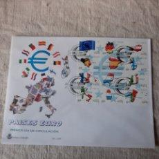Sellos: EDIFIL 3632/43 SERIE USADOS MATASELLO OFICIAL PAÍSES EURO MINIPLIEGO 63 ESPAÑA BANDERAS. Lote 222728588