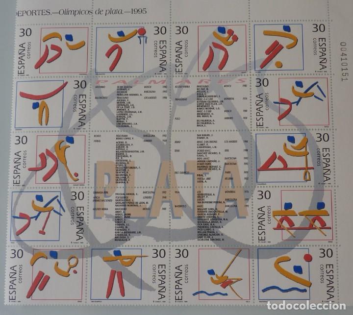 ESPAÑA 1995 EDIFIL 3364/3377 PALMARES PLATA . OLIMPIADAS 92 MNH (Sellos - España - Juan Carlos I - Desde 1.986 a 1.999 - Nuevos)