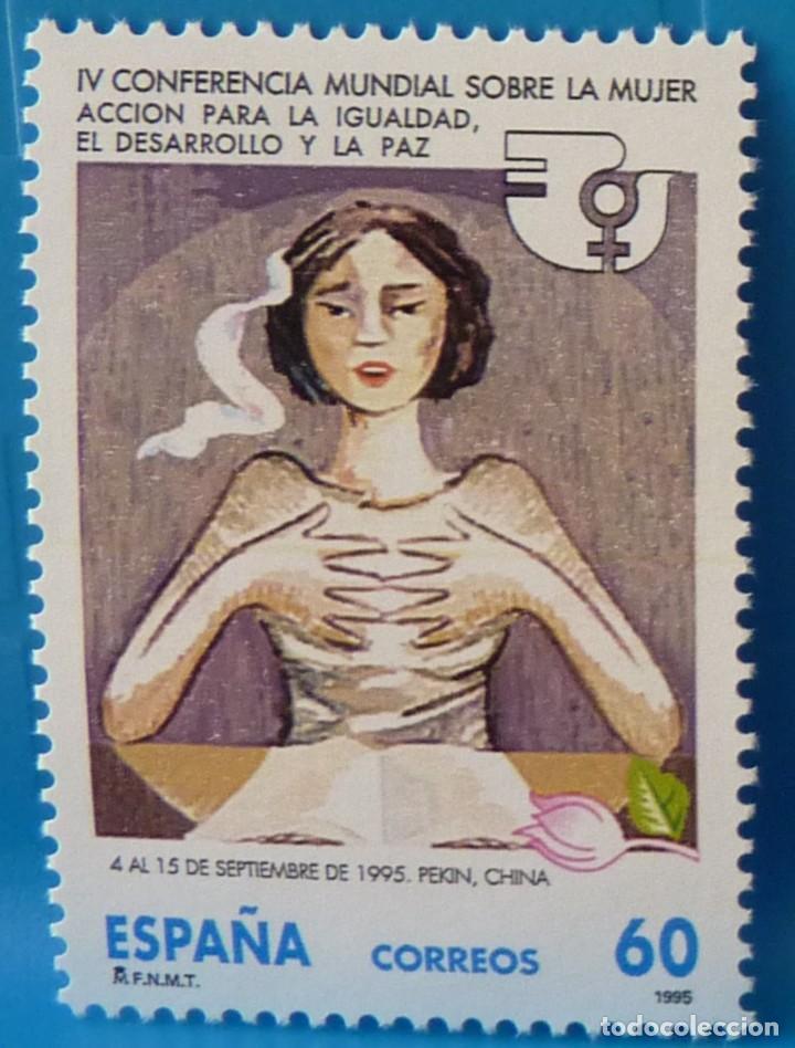 ESPAÑA 1995 EDIFIL 3386 CONFERENCIA MUNDIAL SOBRE LA MUJER MNH (Sellos - España - Juan Carlos I - Desde 1.986 a 1.999 - Nuevos)