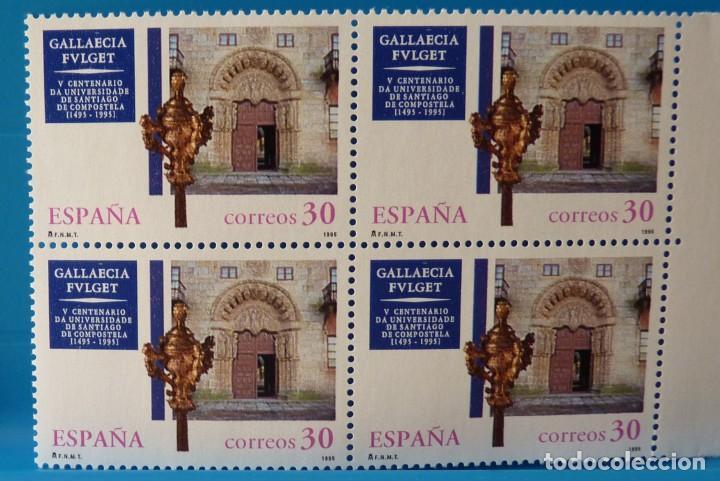 ESPAÑA 1995 EDIFIL 3389 V CENTENARIO UNIV. SANTIAGO DE COMPOSTELA MNH BLOQUE DE 4 (Sellos - España - Juan Carlos I - Desde 1.986 a 1.999 - Nuevos)