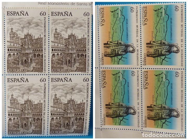 ESPAÑA 1995 EDIFIL 3390/3391 PATRIMONIO MUNDIAL DE LA HUMANIDAD MNH BLOQUE DE 4 (Sellos - España - Juan Carlos I - Desde 1.986 a 1.999 - Nuevos)