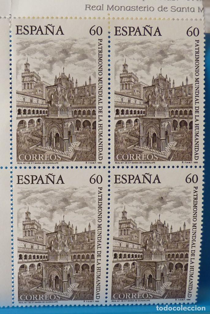 Sellos: ESPAÑA 1995 EDIFIL 3390/3391 PATRIMONIO MUNDIAL DE LA HUMANIDAD MNH BLOQUE DE 4 - Foto 2 - 222752068