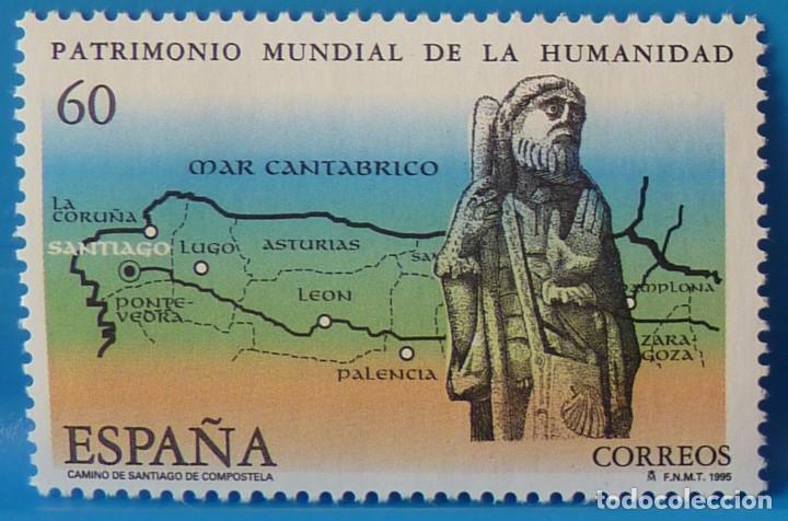 Sellos: ESPAÑA 1995 EDIFIL 3390/3391 PATRIMONIO MUNDIAL DE LA HUMANIDAD MNH - Foto 3 - 222752233