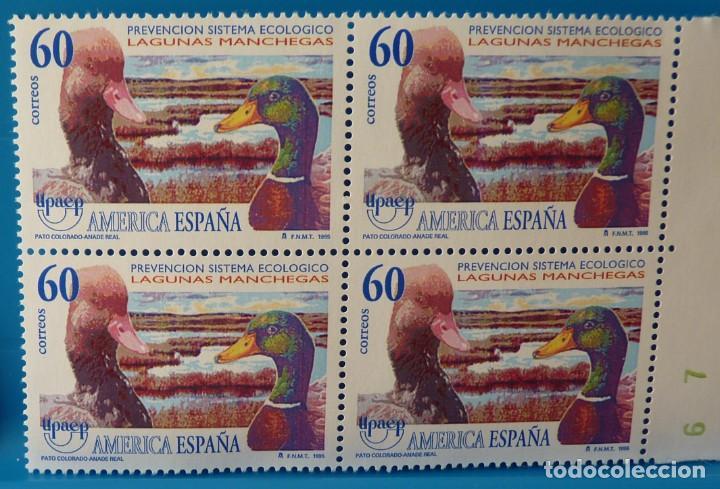 ESPAÑA 1995 EDIFIL 3394 UPAEP AMERICA-ESPAÑA MNH BLOQUE DE 4 (Sellos - España - Juan Carlos I - Desde 1.986 a 1.999 - Nuevos)