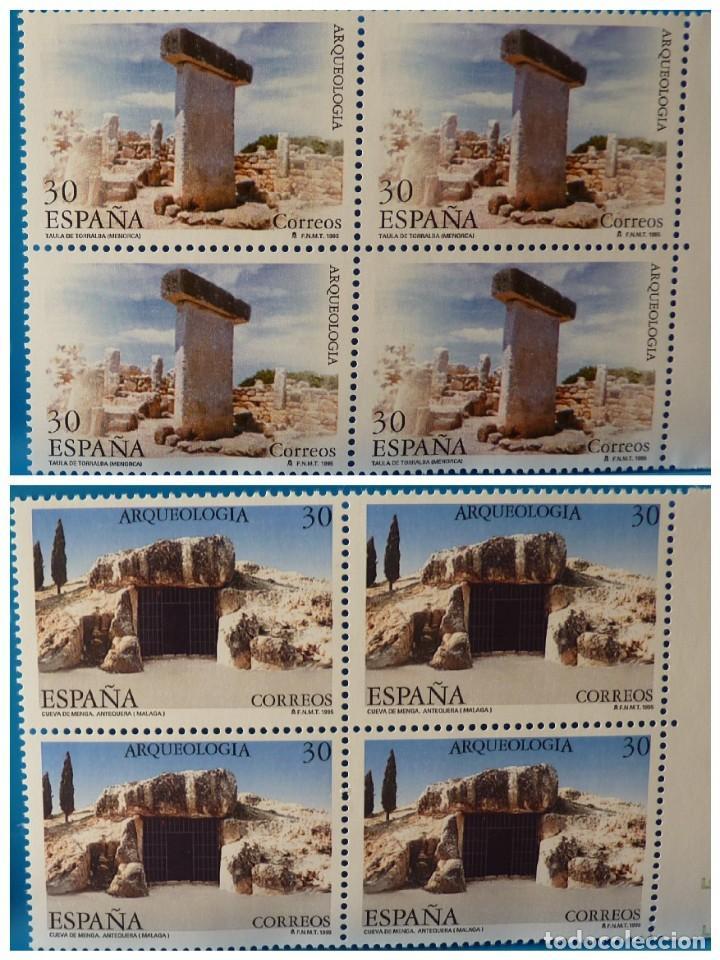 ESPAÑA 1995 EDIFIL 3395/3396 ARQUEOLOGIA MNH BLOQUE DE 4 (Sellos - España - Juan Carlos I - Desde 1.986 a 1.999 - Nuevos)