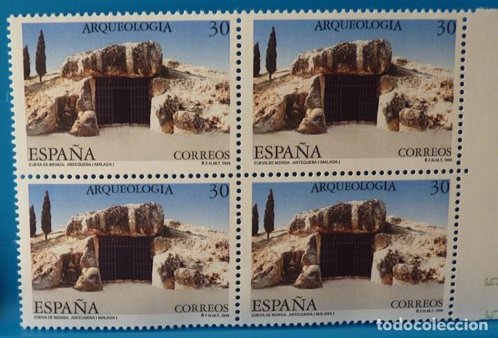 Sellos: ESPAÑA 1995 EDIFIL 3395/3396 ARQUEOLOGIA MNH BLOQUE DE 4 - Foto 2 - 222753403
