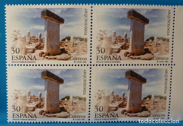 Sellos: ESPAÑA 1995 EDIFIL 3395/3396 ARQUEOLOGIA MNH BLOQUE DE 4 - Foto 3 - 222753403
