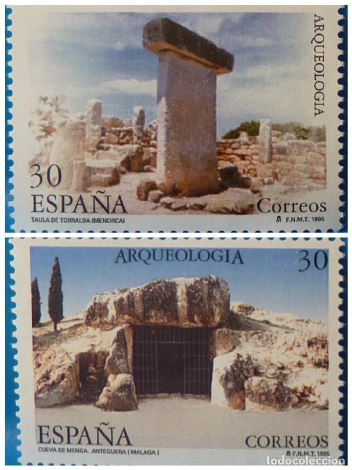 ESPAÑA 1995 EDIFIL 3395/3396 ARQUEOLOGIA MNH (Sellos - España - Juan Carlos I - Desde 1.986 a 1.999 - Nuevos)