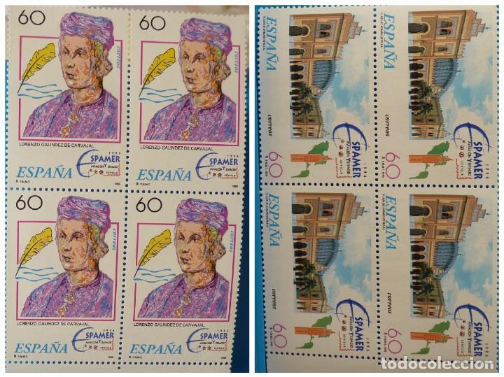 ESPAÑA 1995 EDIFIL 3404/3405 ESPAMER 95 MNH BLOQUE DE 4 (Sellos - España - Juan Carlos I - Desde 1.986 a 1.999 - Nuevos)