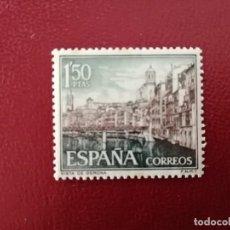 Sellos: EDIFIL 1550 - VALOR FACIAL 1,50 PESETAS - AÑO 1964 - VISTA DE GERONA.. Lote 222880188