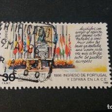 Sellos: SELLO USADO. INGRESO PORTUGAL Y ESPAÑA EN COMUNIDAD EUROPEA. MESA FIRMA. EDIFIL 2827.. Lote 222884360