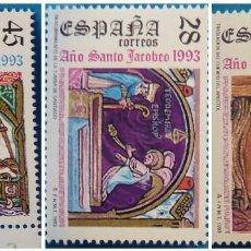 Selos: ESPAÑA 1993 EDIFIL 3252/3254 AÑO SANTO JACOBEO MNH. Lote 222900345