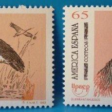 Selos: ESPAÑA 1993 EDIFIL 3270/3271 UPAEP. AMERICA-ESPAÑA. AVES MNH. Lote 222901628