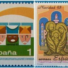 Selos: ESPAÑA 1993 EDIFIL 3273/3274 NAVIDAD MNH. Lote 222901851