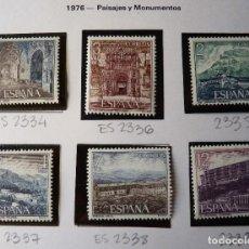 Sellos: ESPAÑA 1976 EDIFIL 2334/2339 PARADORES NACIONALES DE TURISMO MNH. Lote 223022337