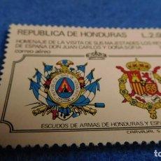 Sellos: VISITA DE LOS REYES DE ESPAÑA A HONDURAS. ESCUDOS., 1977. Lote 223047982
