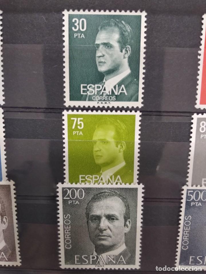 Sellos: Serie Completa Sellos España S.M.Don Juan Carlos I año 1981.Edifil 2599/2607 - Foto 3 - 223607881