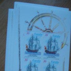 Sellos: ESPAÑA 1995 EDIFIL H 3352/53 LOTE 10 HOJITAS PERFECTAS SIN CHARNELAS. Lote 223952806