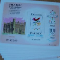 Sellos: ESPAÑA 1999 EDIFIL H 3648 LOTE 10 HOJITAS SIN CHARNELAS PERFECTAS. Lote 223953526