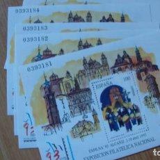 Sellos: ESPAÑA 1993 EDIFIL H 3249 LOTE 10 HOJITAS PERFECTAS SIN CHARNELAS. Lote 223954358