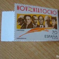 Sellos: ESPAÑA 1998 GENERACION DEL 98 EDIFIL 3536 NUEVO SIN CHARNELAS. Lote 223968791