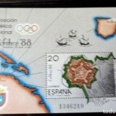 Timbres: ESPAÑA - 1988 - EDIFIL 2955 HB /**/ - EXFILNA 88 - PAMPLONA - PRECIO FACIAL. Lote 224075560