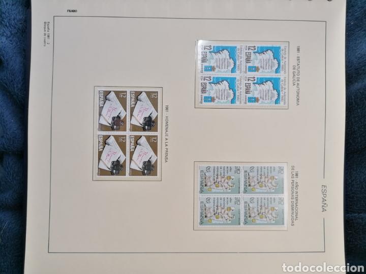 Sellos: España Año completo 1981 en bloque de 4 nuevo *** Edifil 2599/2643 - Foto 10 - 224176737