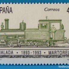 Selos: ESPAÑA 1993 EDIFIL 3265 EFEMERIDES. FERROCARRIL IGUALADA-MARTORELL MNH. Lote 224189345