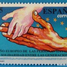 Selos: ESPAÑA 1993 EDIFIL 3272 AÑO EUROPEO DE LAS PERSONAS MAYORES MNH. Lote 224190212
