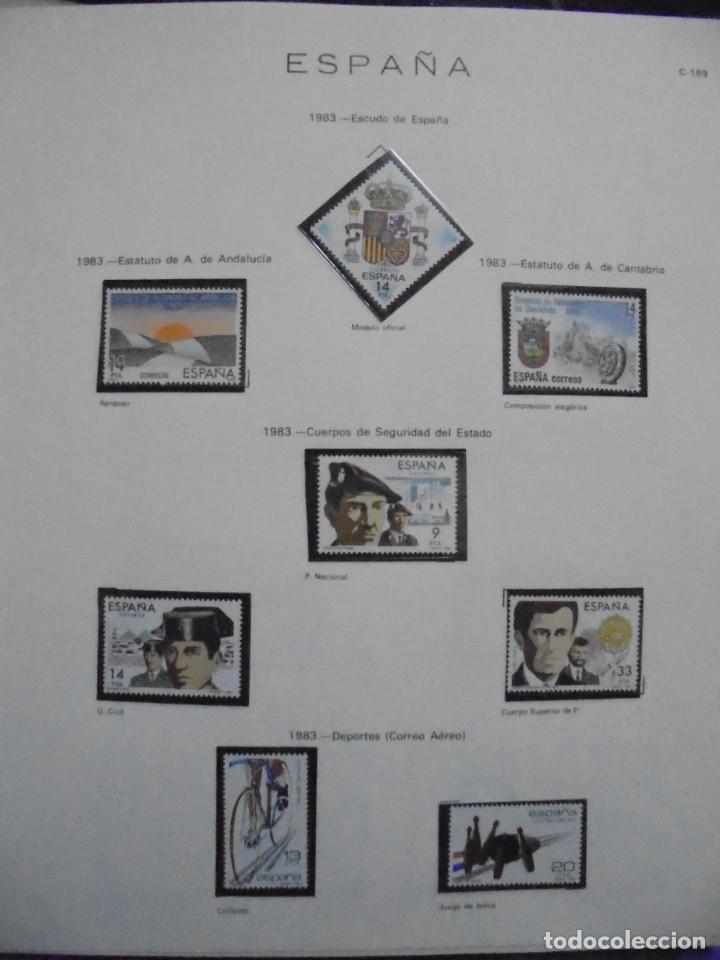 Sellos: ALBUM FIVA. ESPAÑA 1983 - 1991. SELLOS Y BLOQUES. COMPLETO DE HOJAS NO DE SELLOS. VER FOTOS - Foto 3 - 224273397