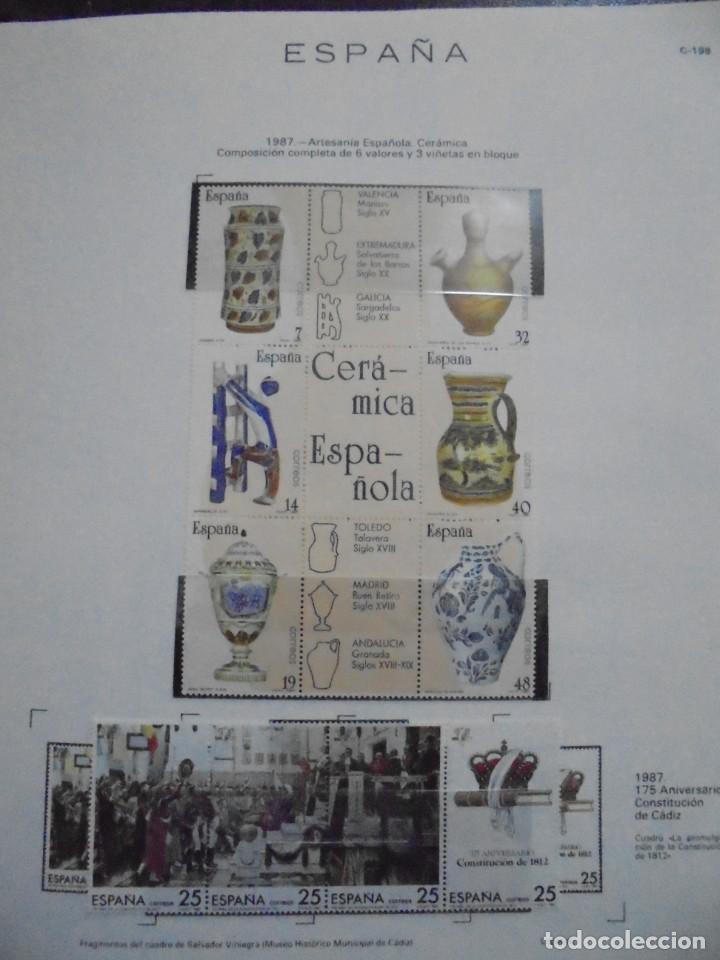 Sellos: ALBUM FIVA. ESPAÑA 1983 - 1991. SELLOS Y BLOQUES. COMPLETO DE HOJAS NO DE SELLOS. VER FOTOS - Foto 33 - 224273397