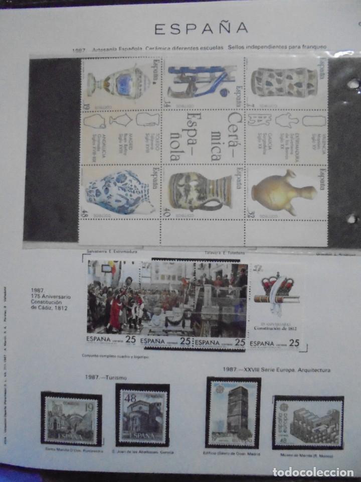 Sellos: ALBUM FIVA. ESPAÑA 1983 - 1991. SELLOS Y BLOQUES. COMPLETO DE HOJAS NO DE SELLOS. VER FOTOS - Foto 34 - 224273397