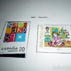 Sellos: ESPAÑA EDIFIL 3036/37*** - AÑO 1989 - NAVIDAD. Lote 224326871