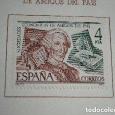Sellos: ESPAÑA 1977 2402 SELLO NUEVO SOCIEDADES ECONOMICAS DE AMIGOS DEL PAIS CARLOS III. Lote 224345033