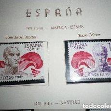 Sellos: ESPAÑA - EDIFIL 2489/90, AMERICA ESPAÑA 1978, NUEVOS (SERIE COMPLETA). Lote 224348697
