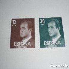 Sellos: ESPAÑA EDIFIL 2599/2600 - REY JUAN CARLOS I SELLOS NUEVOS. Lote 224412768