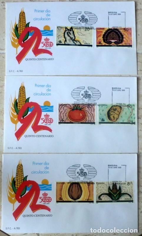 3 SOBRES ESPAÑA 1989 - FOTO 001 - SERIE COMPLETA (Sellos - España - Juan Carlos I - Desde 1.986 a 1.999 - Cartas)