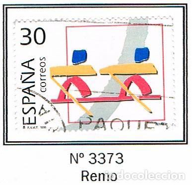 EDIFIL Nº 3373, OLIMPIADA DE BARCELONA 92, OLIMPICOS DE PLATA, REMO, USADO (Sellos - España - Juan Carlos I - Desde 1.986 a 1.999 - Nuevos)