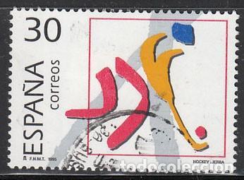 EDIFIL Nº 3370, OLIMPIADA DE BARCELONA 92, OLIMPICOS DE PLATA, HOCKEY SOBRE HIERBA, USADO (Sellos - España - Juan Carlos I - Desde 1.986 a 1.999 - Nuevos)